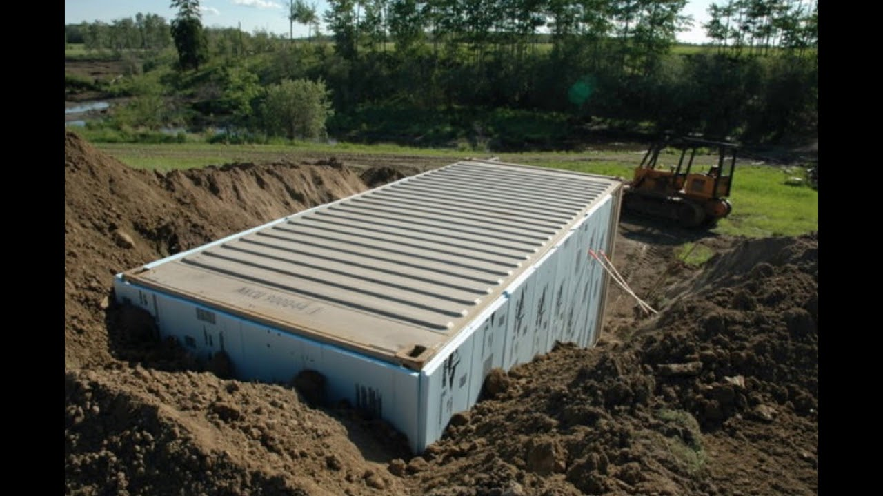 Problems With Burying Shipping Containers